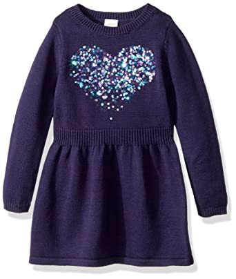 eadc7538c30 Amazon.com  Gymboree Girls  Little Fit Flare Sweater Dress  Clothing
