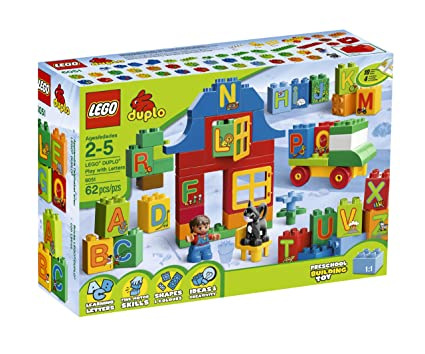 Amazoncom Lego Duplo Play With Letters 6051 Toys Games