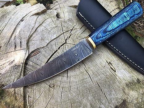 Perkin Cuchillo Caza Cuchillo de Acero Damasco BN1000 ...