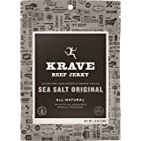 KRAVE Beef Jerky, Sea Salt Original, Gluten-Free, 1 Ounce (Pack of 12)