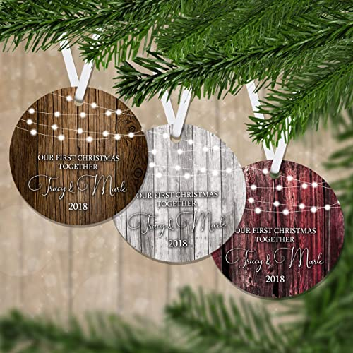 Amazon.com: Our First Christmas Ornament Established - Personalized ...