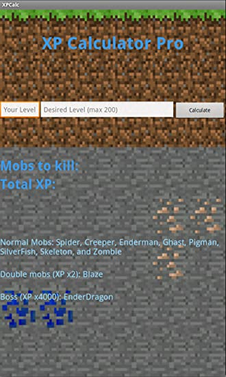 Xp calculator for minecraft for (android) free download on mobomarket.