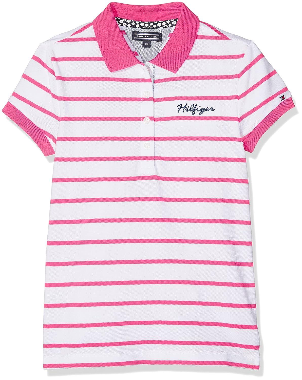 Tommy Hilfiger Ame Girls Stripe Polo S/S, Niños, Rosa (Fandango ...