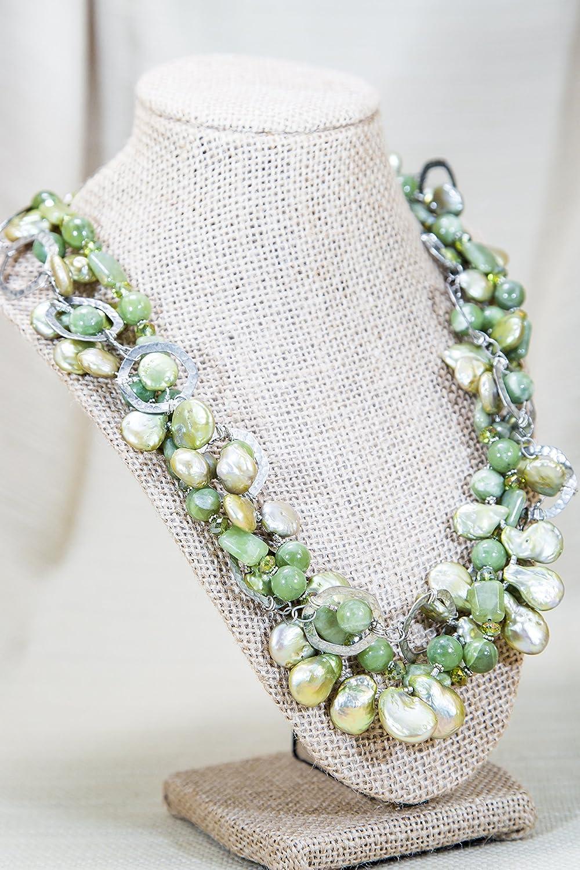 2f3cc630e49e6 Amazon.com: OBJ Multi-strand Torsade Necklace of Baroque Pearls ...