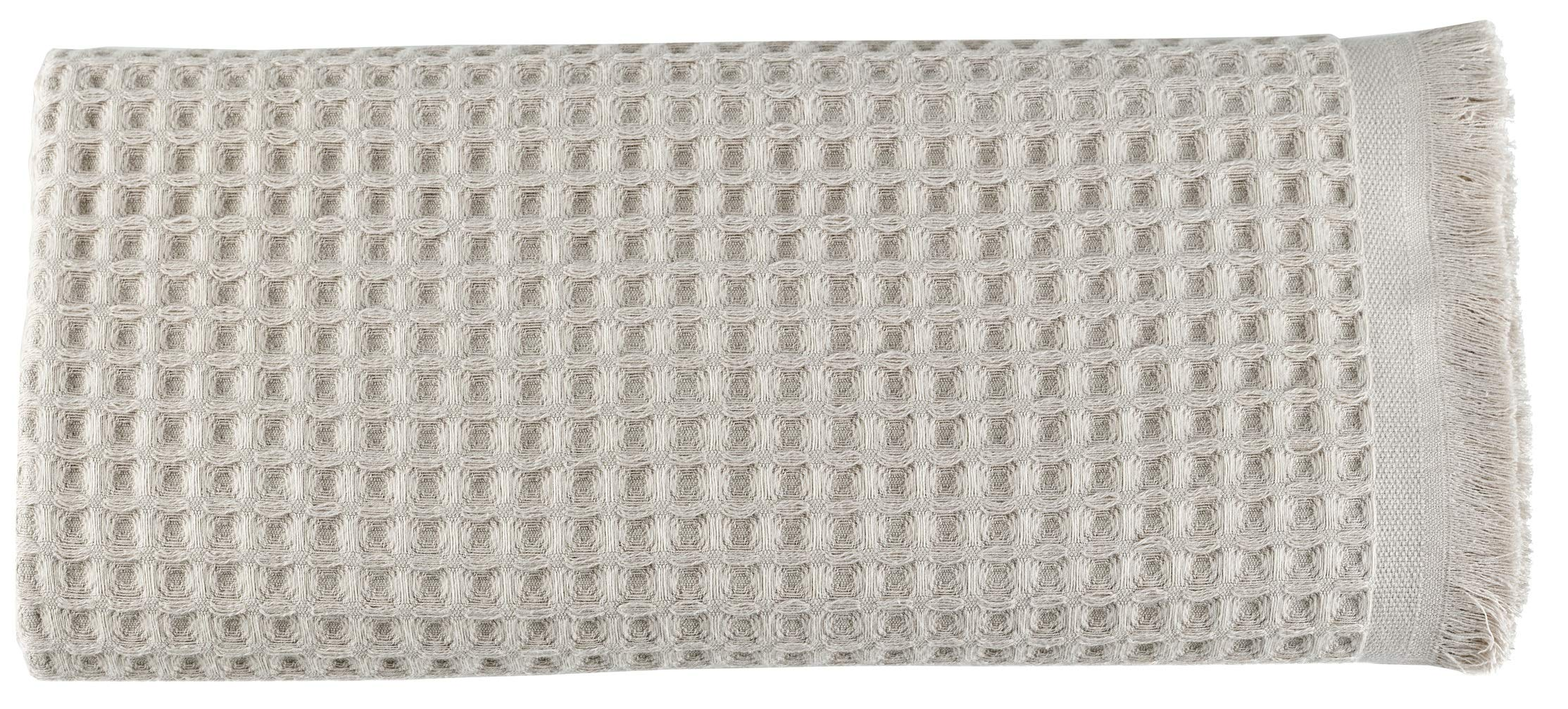 Arvec Turkish Waffle Weave Bath Sheet Towel, Bamboo & Turkish Cotton Blend, Ultra Soft Turkish Bath Towel 35'' x 70'' (Beige)
