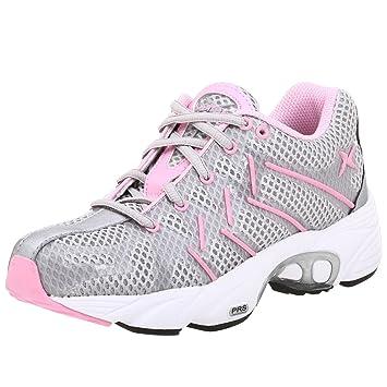 5330451a5b Aetrex Women's Z593 Web Runner Running Shoe,Silver/Pink,5 ...