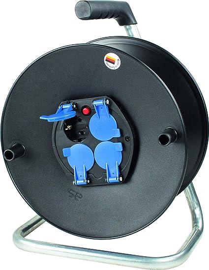 As Schwabe 10205 Enrouleur De Câble électrique Vide Pour Env 25 M De Câble Et Usage En Intérieur D Après La Norme Ip20 ø 230 Mm Amazon Fr Bricolage
