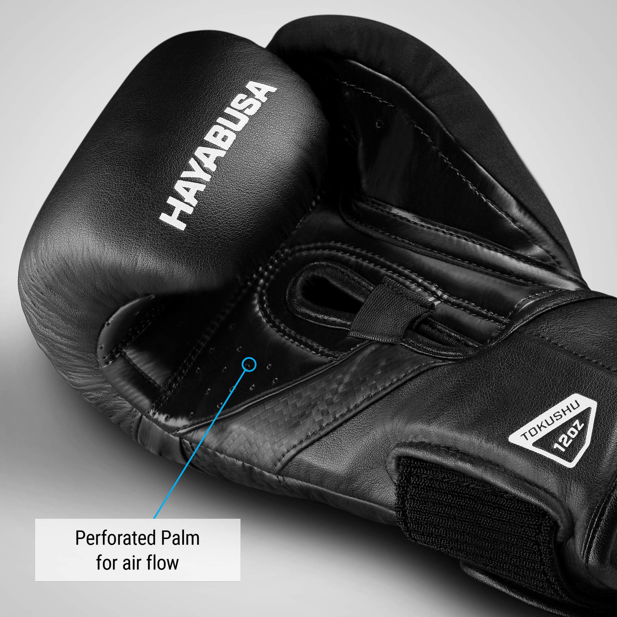 Hayabusa T3 14oz Boxing Gloves Black//Grey with 180 inch Boxing Hand Wraps Black