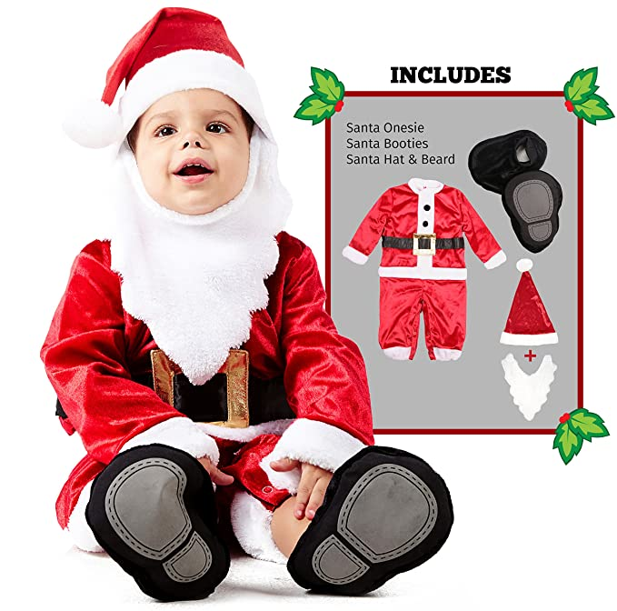 Amazon.com  Spooktacular Creations Deluxe Baby Santa Costume Set  Clothing 064a1ff893d