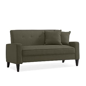 Amazon.com: Domesis Granada Sofa in Basil Green Linen ...
