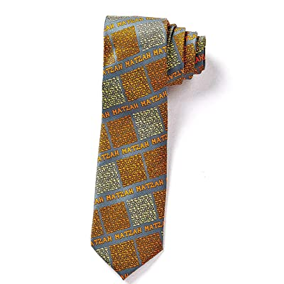 Rite Lite Faux Silk Matzah Tie - Judaica Matzah Print Tie: Toys & Games