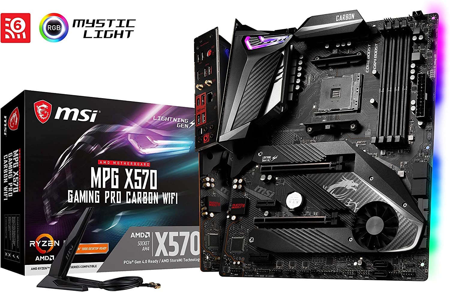 MSI AMD X570 Gaming Pro Carbon ATX DDR4-SDRAM Motherboard