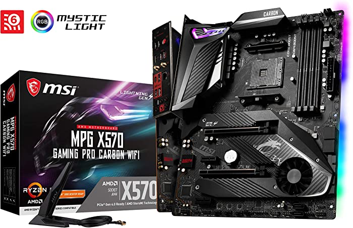 MSI AMD X570 Gaming Pro Carbon ATX DDR4-SDRAM Motherboard