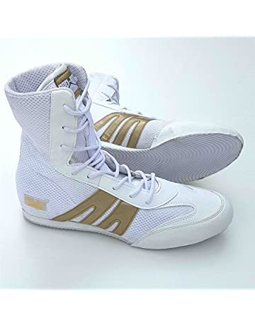 Pro Box Botas de Boxeo para Adultos, Color Blanco y Dorado