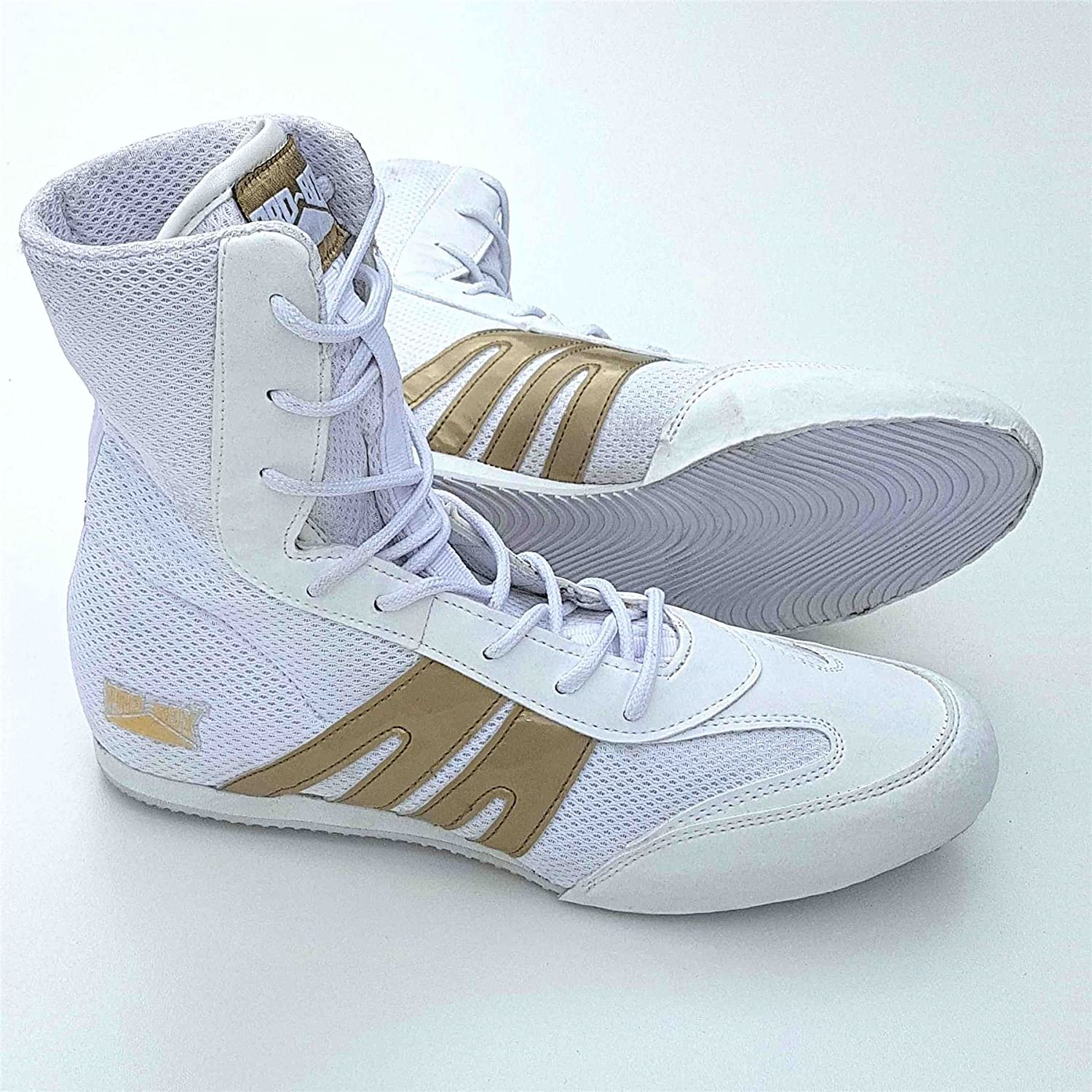 Pro Box Junior Boxing Boots White/Gold