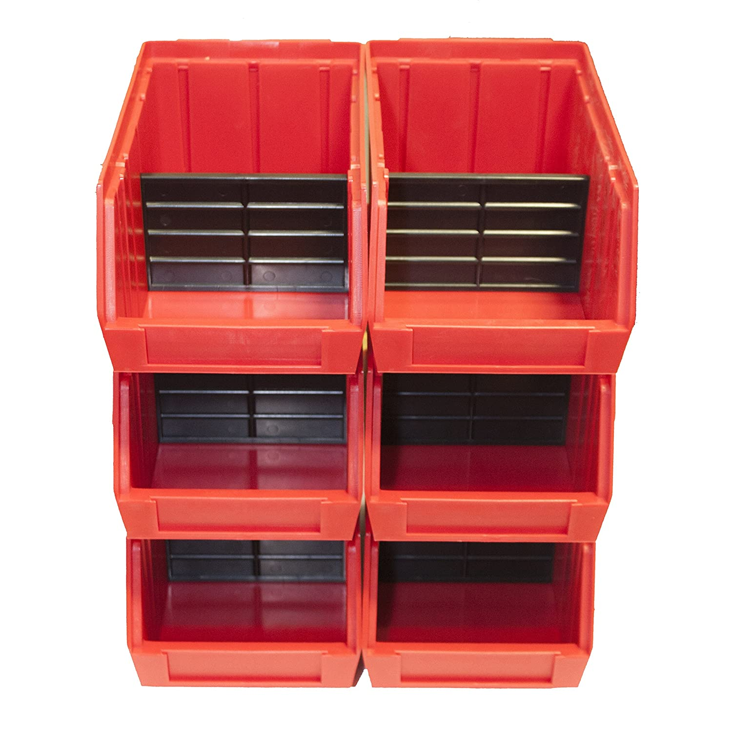 Maxtech 76025 PB9 Parts Bin Master Carton (20 Piece), Red Maxtech Consumer Products Limited