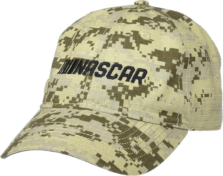 Adjustable NASCAR NASCAR Mens Digital Camo CapDigital Camo Cap Digital Grey//Sand