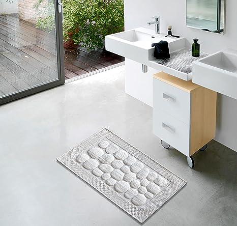 Keymura Tapis de bain/tapis de douche en blanc   pour salle ...