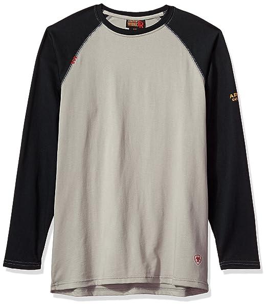 Ariat Men's Flame Resistant Long Sleeve Baseball TeeHenley Shirt