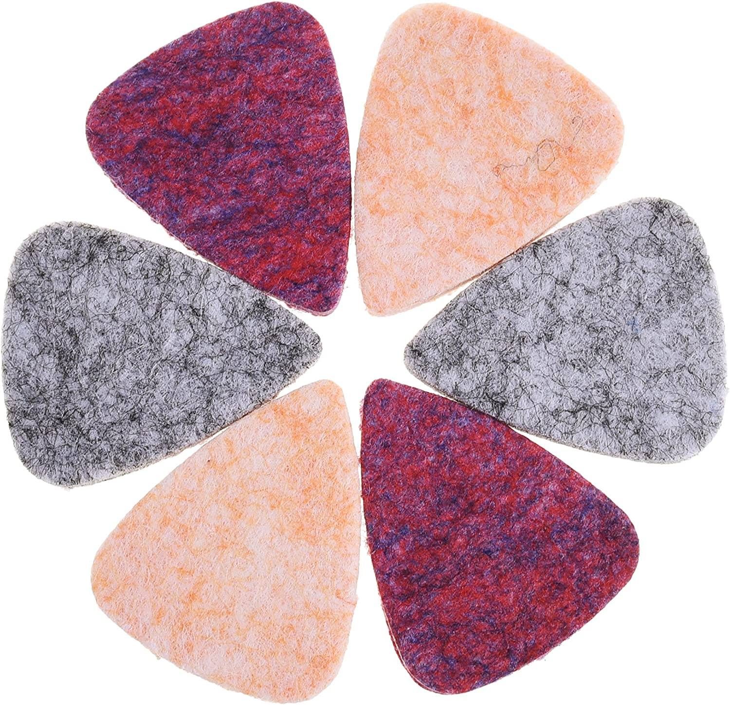 COSMOS Pack of 6 Felt Picks for Protection of Fingernails for Ukulele Guitar or Other Low Tension Instrument