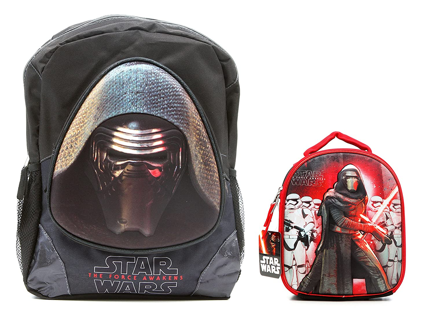 Kylo Ren Star Wars The Force Awakens 3D Backpack and Lunch Bag Box Combo   B06X6BTZM2