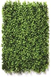 Go Hooked Artificial Vertical Small Leaves Tiles | Vertical Garden Mat (40 X 60 cm, Set of 3)