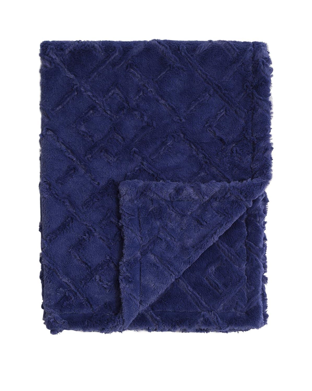 "13x18/"" Baby Laundry Steel Blue Minky Cuddle Blanky"