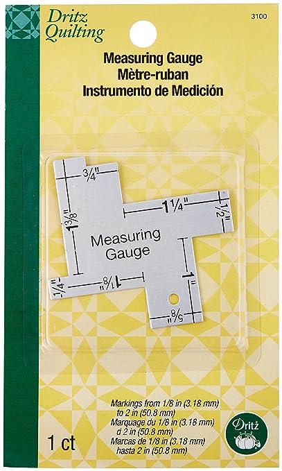 Dritz Quilting 14-in-1 Measuring Gauge
