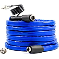 """Camco 12ft TastePURE Heated Drinking Water Hose with Thermostat - Lead and BPA Free, Reinforced for Maximum Kink Resistance, 1/2""""Inner Diameter (22910)"""