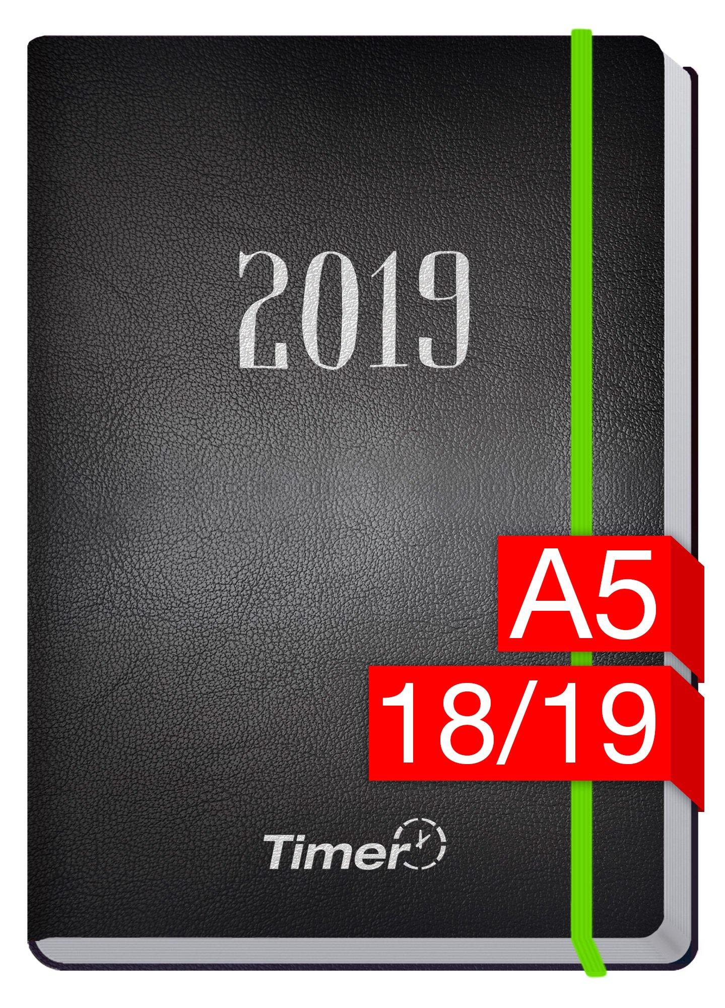 chff-timer-premium-a5-kalender-2018-2019-neon-grn-18-monate-juli-2018-dezember-2019-neon-gummiband-einstecktasche-terminkalender-mit-wochenplaner-organizer-wochenkalender