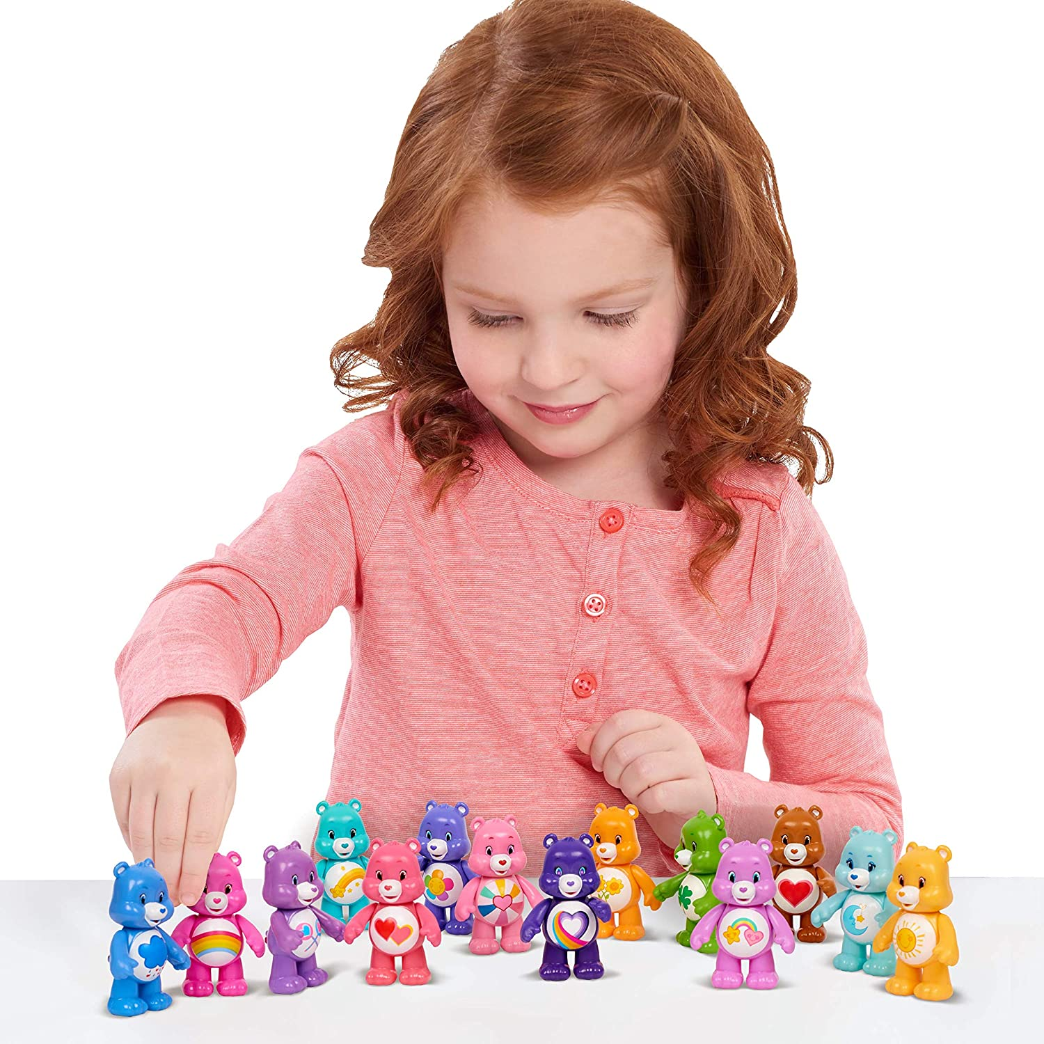 2020 Care Bears Mini 3 inch Figures articulated arms 5 pack *NEW* Just Play Toys
