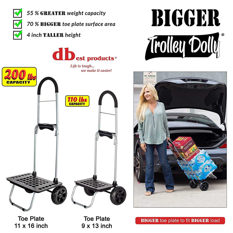 Bigger Carrito Dolly, Negro de Compras Plegable Carro de comestibles: Amazon.es: Hogar