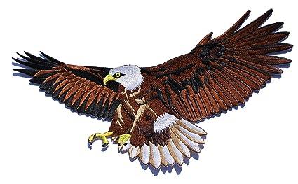 Give-a-way vollgestickter Aufn/äher Patch von Einem Adler Greifvogel 23,57 x 20 cm