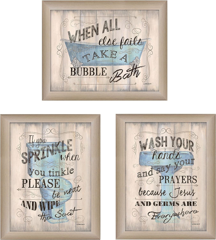 Amazon Com Bathroom Humor Collection By Debbie Dewitt Printed