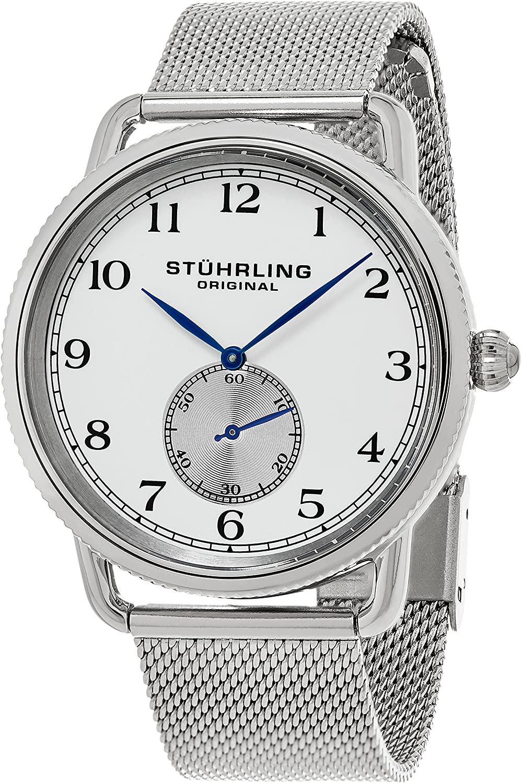 Stuhrling Original Men's 207M.01 Classique Swiss Quartz Stainless Steel Mesh Watch