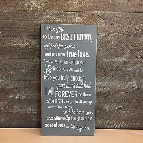 Best Wedding Vows.Amazon Com Ruskin352 I Take You To Be My Best Friend Custom