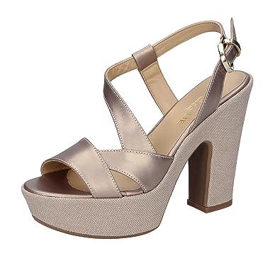 Damen Sandalen Beige Bianco, Beige Bianco - Größe: 37 EU Très Jolie