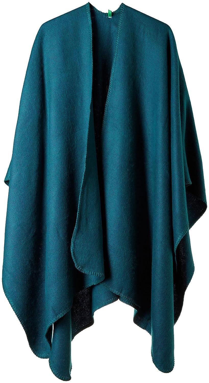 United Colors of Benetton Shawl, Poncho Donna Marrone (Light Brown 7b5) Taglia Unica 6GOED52JT