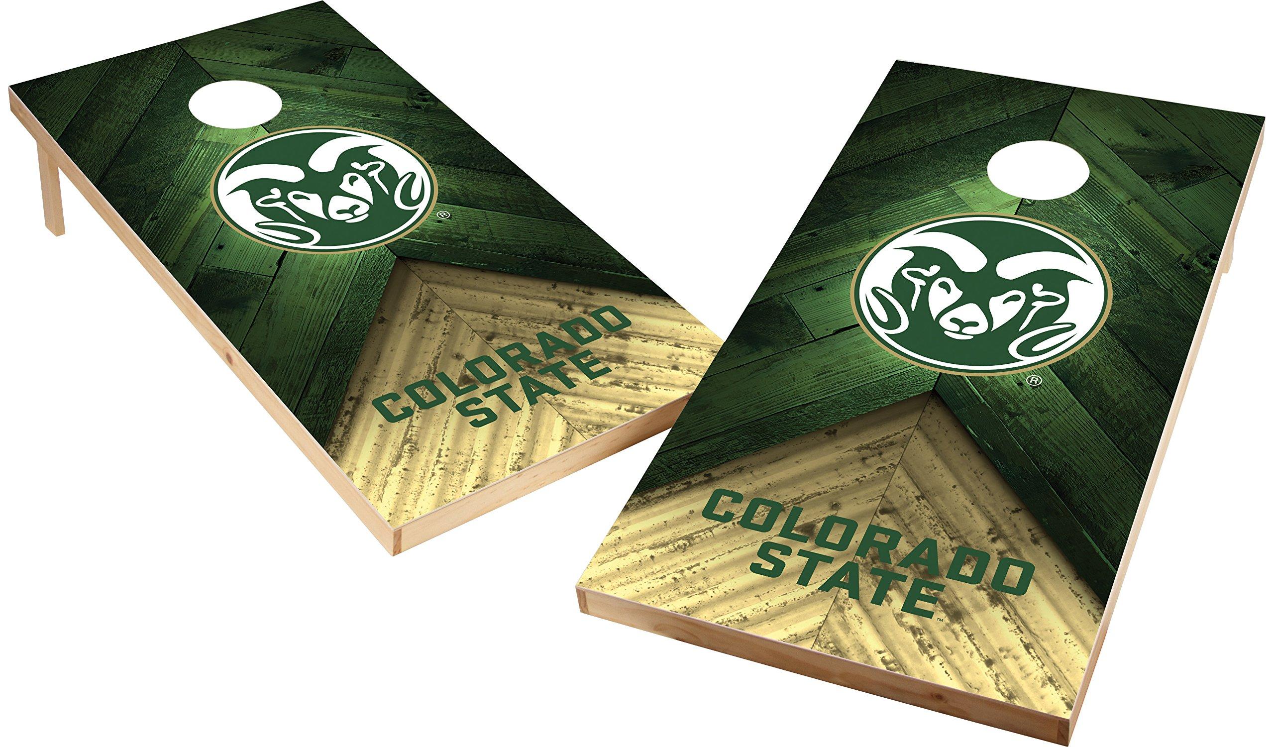 Wild Sports NCAA College 2'x4' Colorado State Rams Cornhole Set