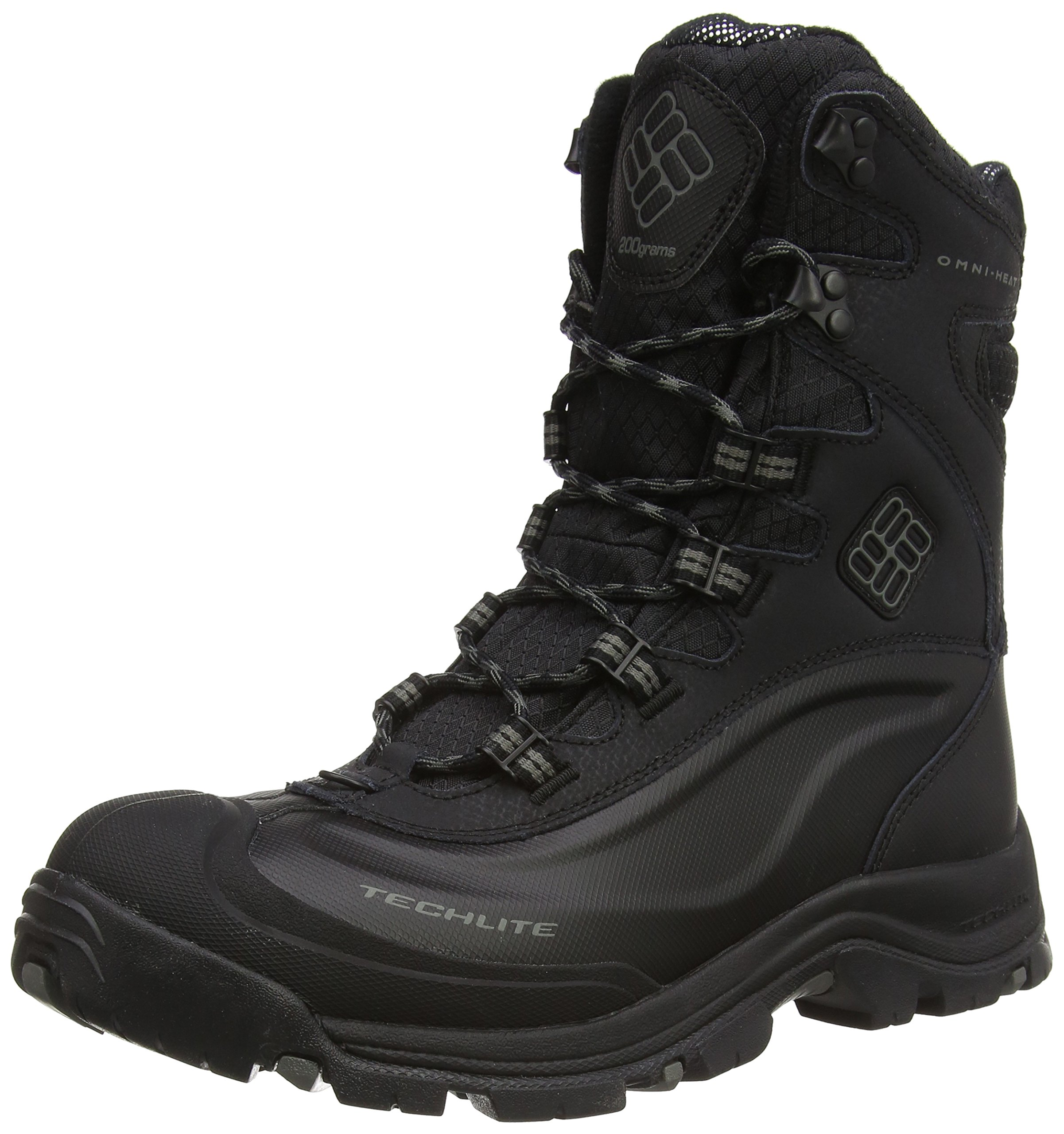 Columbia Men's Bugaboot Plus III Omni Cold Weather Boot, Black/Charcoal, 10.5 D US