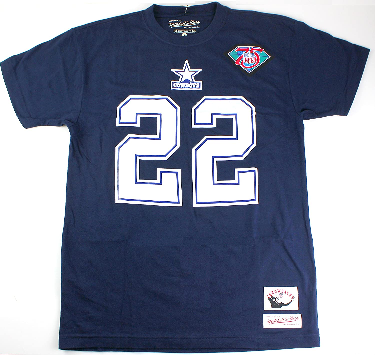 the best attitude 39f4b f812a Emmitt Smith Dallas Cowboys #22 NFL Mitchell & Ness Men's Throwback Name  and Number T-Shirt