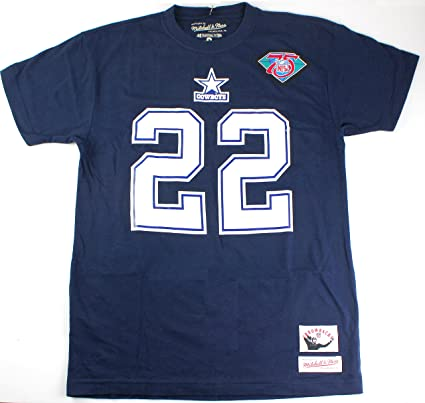 the best attitude 9ed17 42ca3 Emmitt Smith Dallas Cowboys #22 NFL Mitchell & Ness Men's Throwback Name  and Number T-Shirt