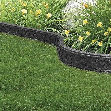 Garden Gear - Borde de Goma reciclada para jardín (Flexible, Curvado, Respetuoso con el Medio Ambiente): Amazon.es: Jardín