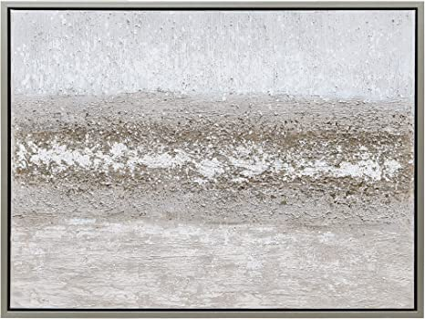Amazon Com Empire Art Direct Sandpath Abstract Wall Art Textured Metallic Hand Painted Canvas By Martin Edwards Champagne Frame Ready To Hang Living Room Bedroom Office 40 In X 1 5 In X