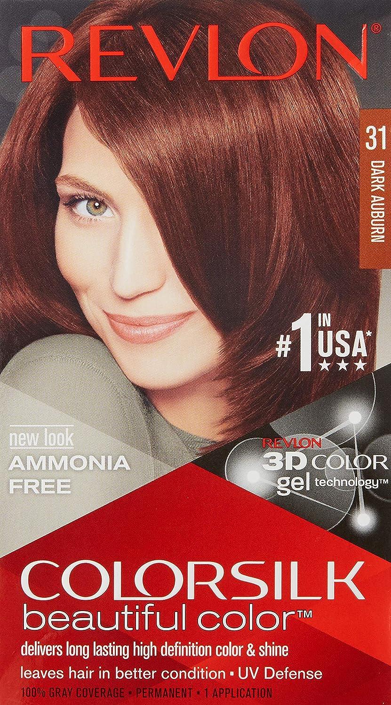 Revlon Colorsilk - Tinte, color 31-castaño oscuro cobrizo, 200 gr