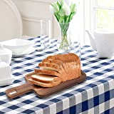 Acacia Wood Rectangular Cutting Board, Kitchen Cutlery Serving Platter - MyGift