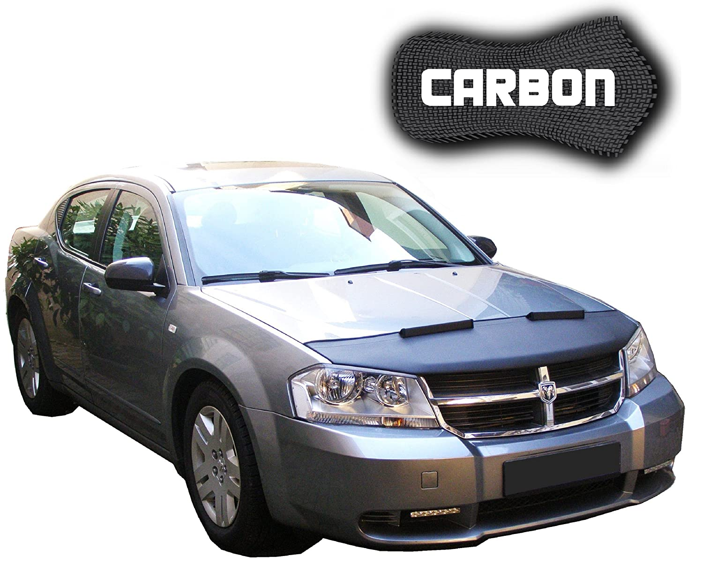 Hood Bra Dodge Avenger Carbon Bonnet Car Front End 2012 Cover Nose Mask Stoneguard Protector Tuning Automotive