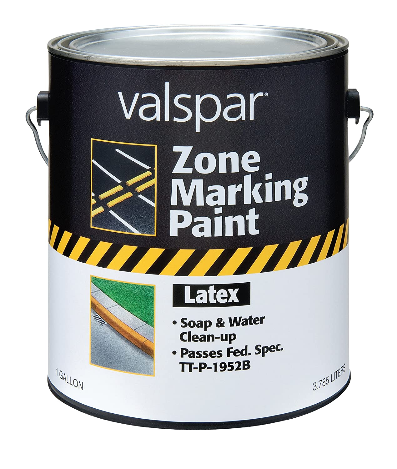 Amazon.com: Valspar 24-136G Yellow Latex Zone Marking Paint - 1 ...