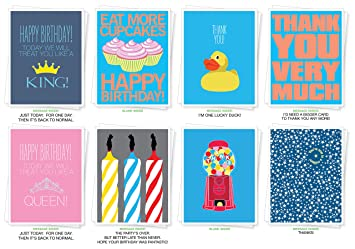 Amazon Assorted Best Selling Birthday And Thank You Cards Set