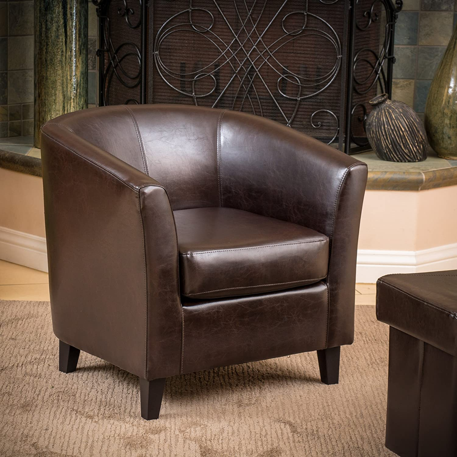 Classic Brown Leather Club Chair U2013 Petaluma